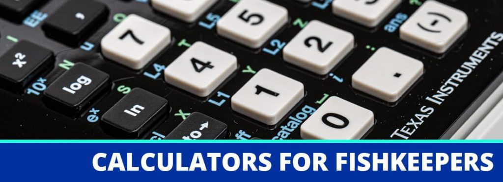 calculators for fishkeepers header